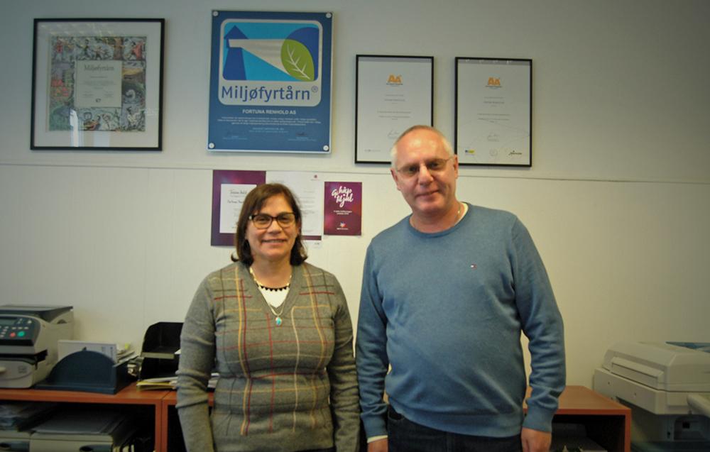 Driftssjef Nancy Jara Brändström og Patrik Brändström